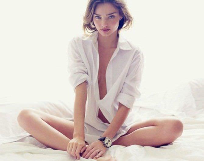 Миранда Керр фотография в белой рубашке