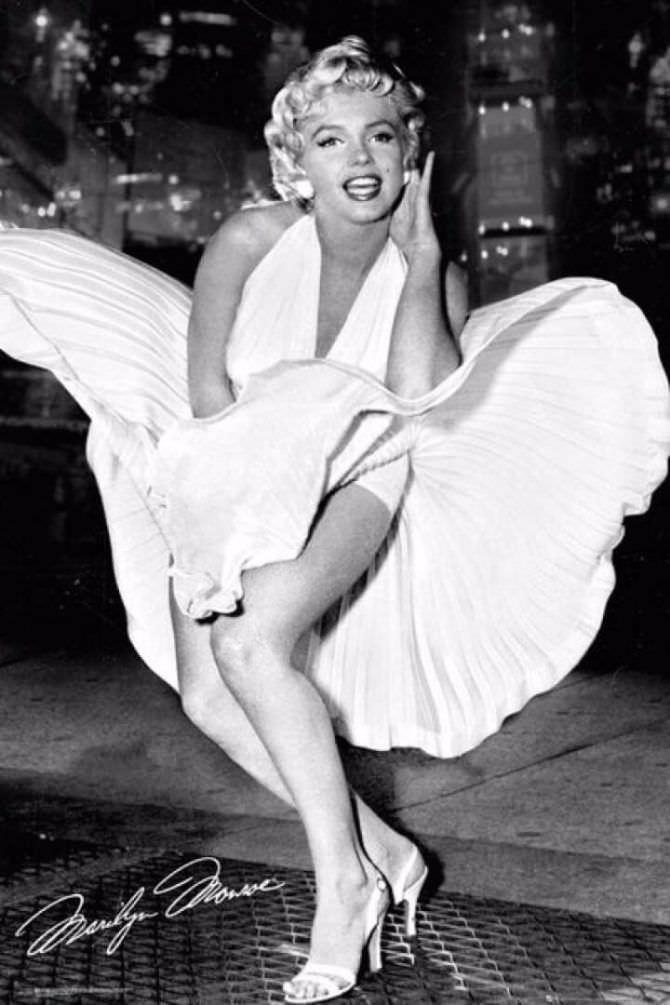 Мэрилин Монро знаменитое фото в платье