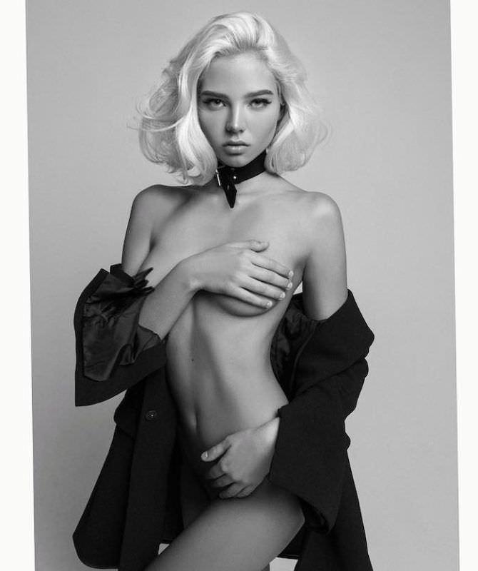 Алеся Кафельникова фотография в чёрном пиджаке