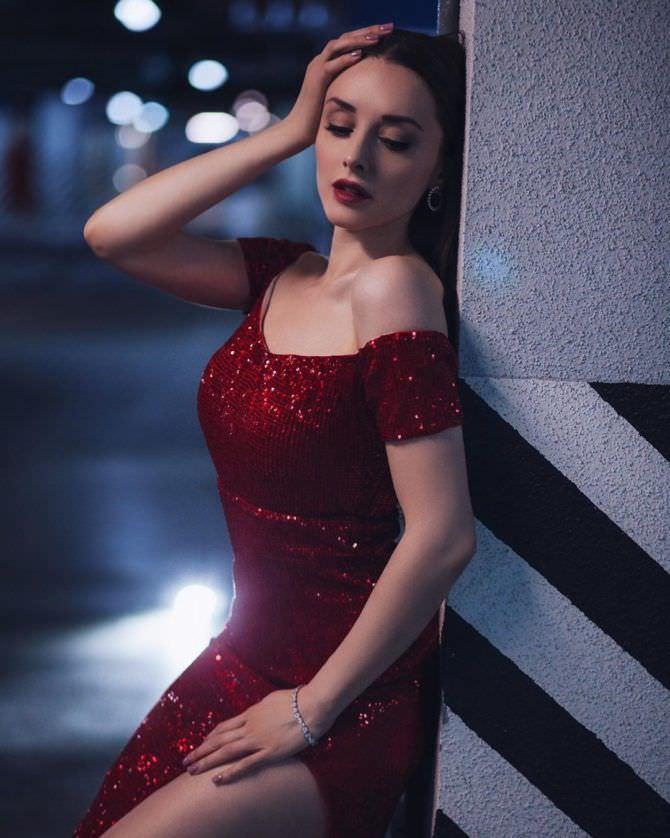 Юлия Майборода фотосессия в вечернем платье