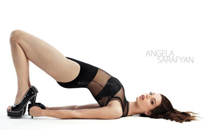 Анджела Сарафян фото в боди и туфлях