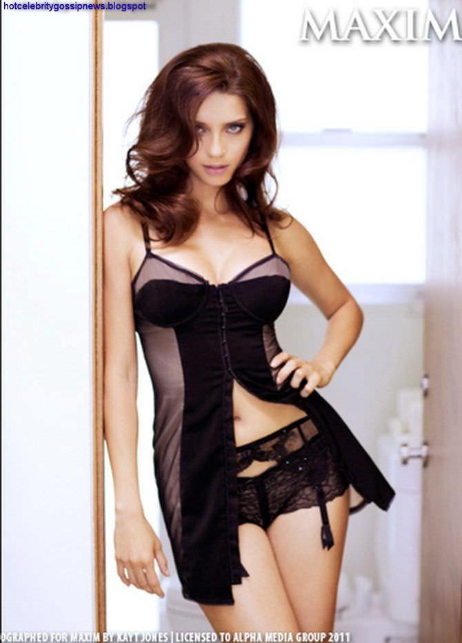 Анджела Сарафян фотосессия в нижнем белье в максим