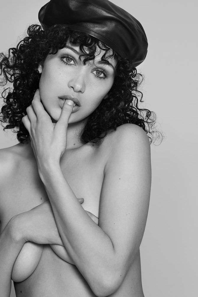 Белла Хадид фото с кучерявыми волосами
