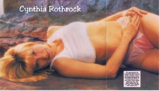 Синтия Ротрок фотосессия в нижнем белье