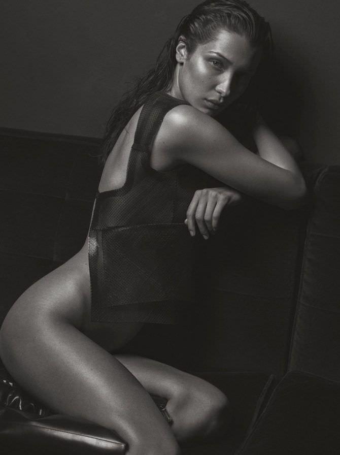Белла Хадид чёрно-белая фотосессия в журнале