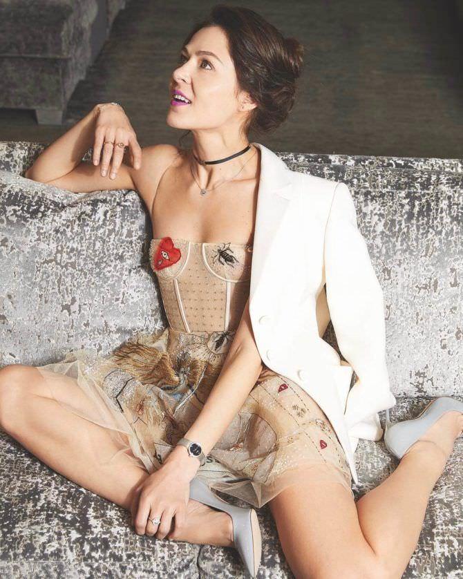 Елена Лядова фото в прозрачном платье