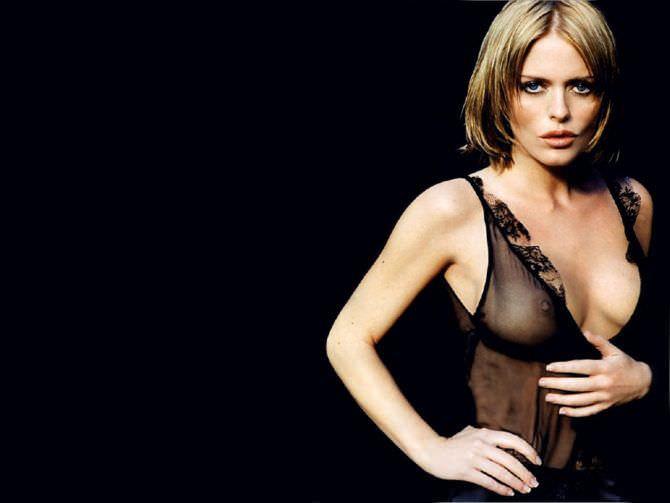 Пэтси Кенсит фотография в прозрачном чёрном платье