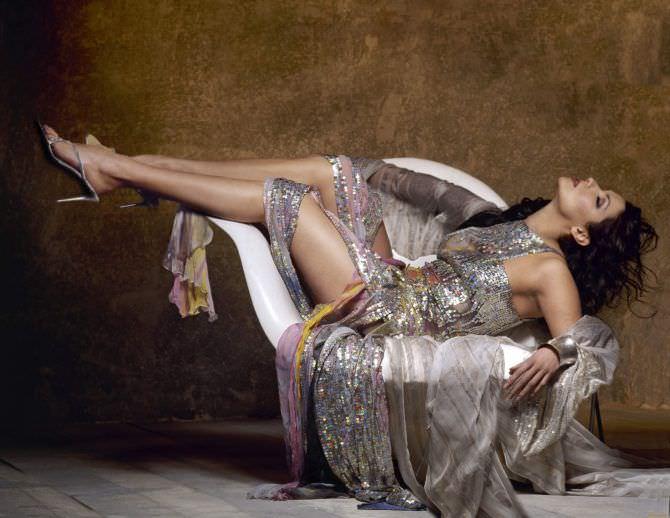 Анна Нетребко фотосессия в красивом платье