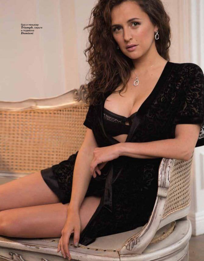 Мария Шумакова фото в чёрном белье