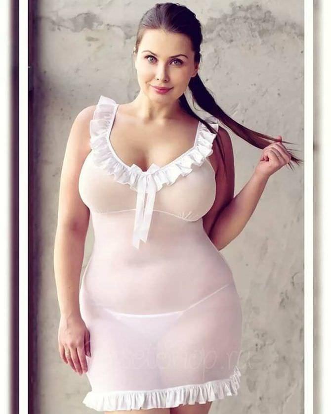 Светлана Каширова фотография в белой ночной сорочке