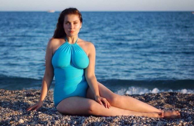 Светлана Каширова фотография в голубом купальнике