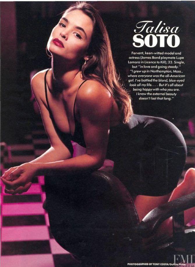 Талиса Сото фото из журнала в платье