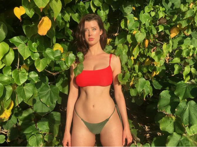Сара Макдэниэл фото в бикини в листве