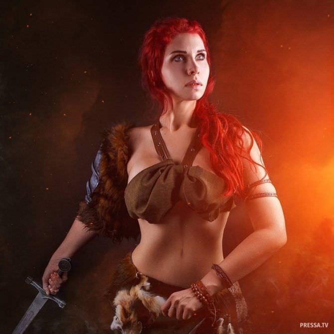 Елена Самко фото в образе воительницы