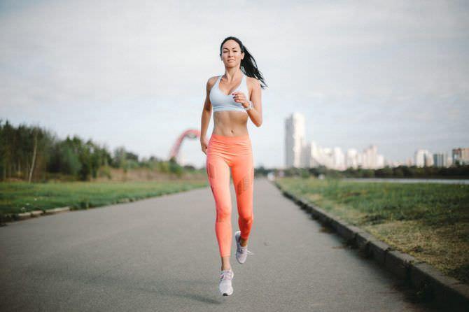 Анастасия Тукмачева фото во время пробежки