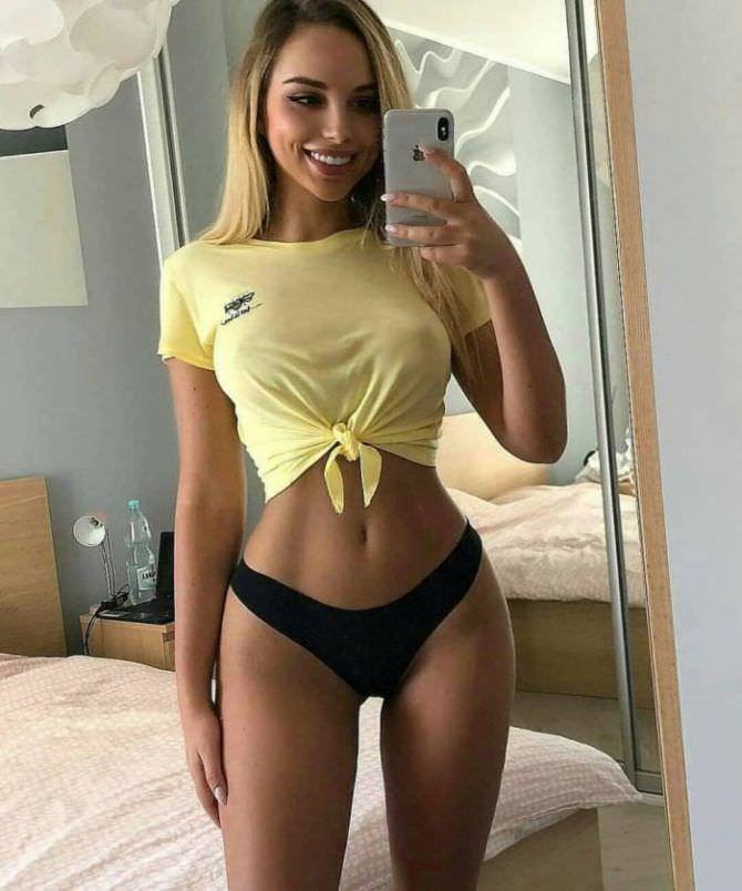 Вероника Белик фото в жёлтой футболке