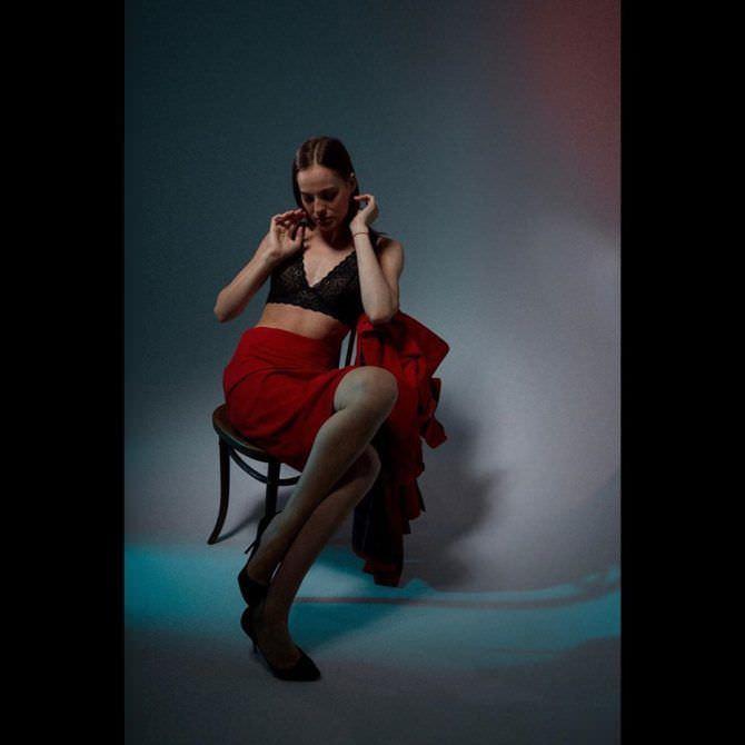 Изабель Эйдлен фотография в чёрном белье