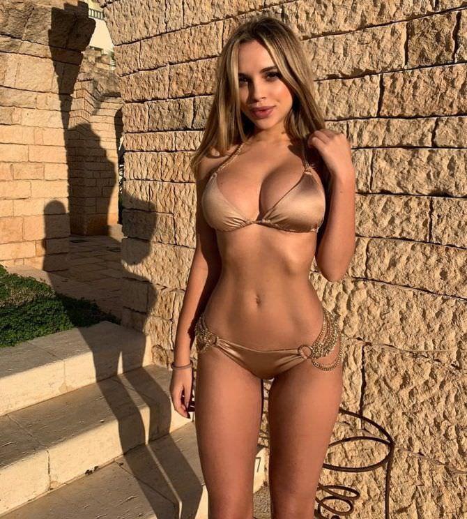 Вероника Белик фото в коричневом купальнике