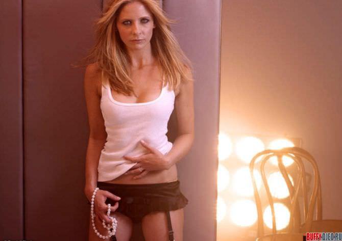 Сара Мишель Геллар фотография в нижнем белье