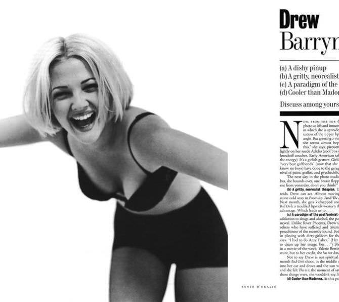 Дрю Бэрримор фотосессия в журнале 1994