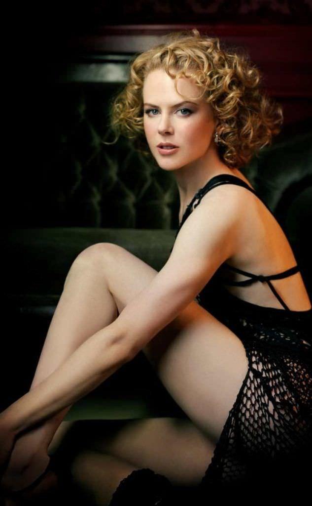 Николь Кидман фото в чёрном платье