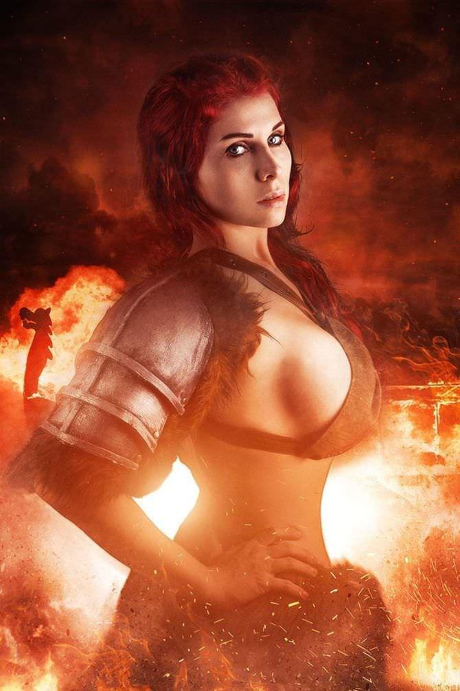 Елена Самко фото на фоне огна
