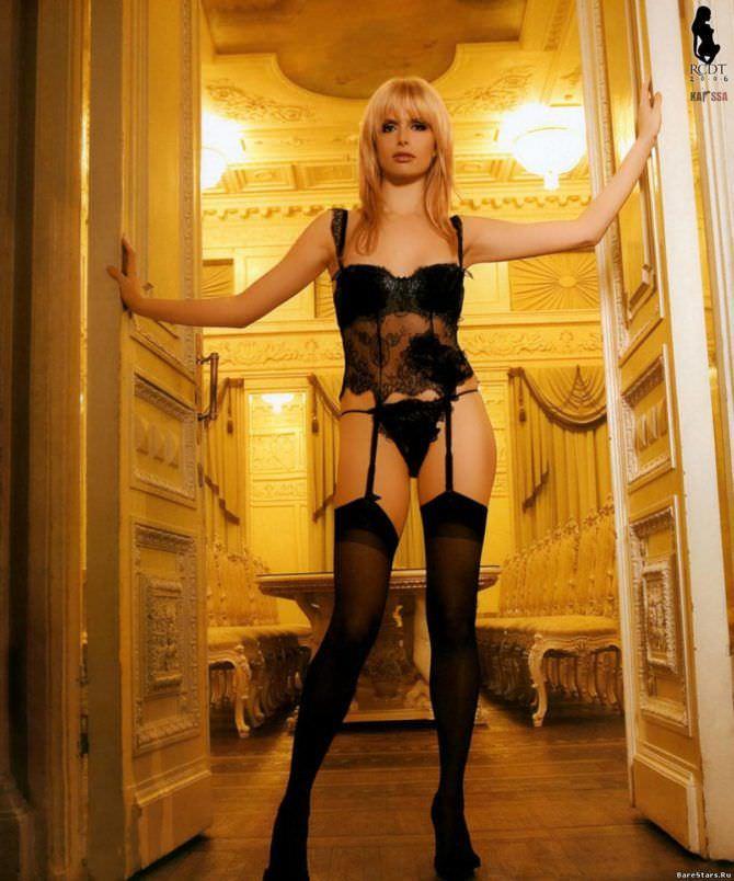 Анна Чурина фото в чёрном белье в журнале