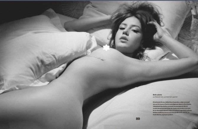 Адель Экзаркопулос фото без одежды на постели
