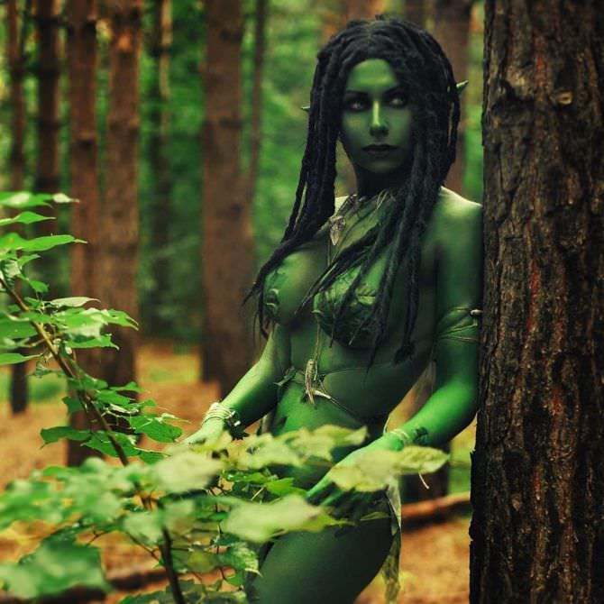 Елена Самко фото косплея лесного духа