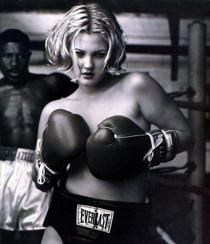 Дрю Бэрримор фото в боксёрских перчатках