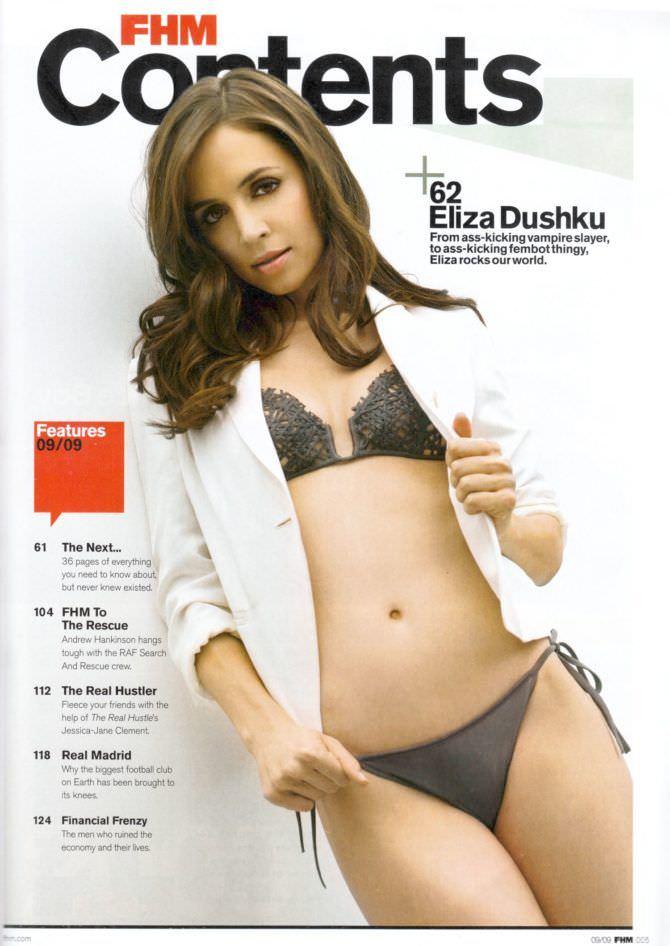 Элиза Душку фотография из журнала в бикини