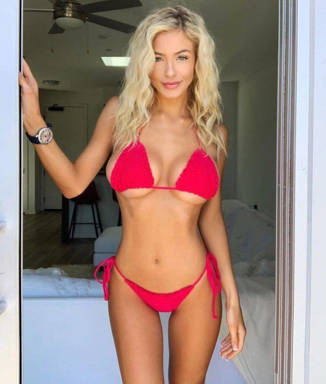 Ханна Палмер фото в ярком красном бикини