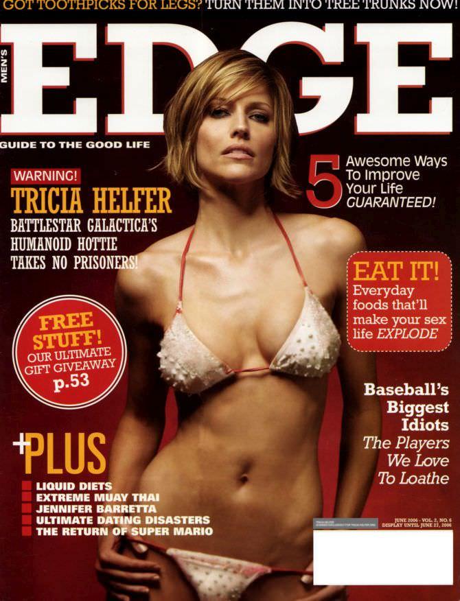 Триша Хелфер фото в купальнике на обложке журнала