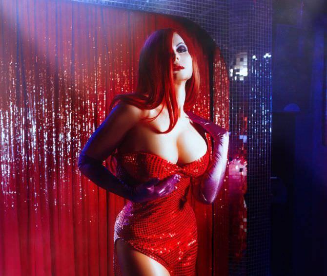 Елена Самко фотография в красном платье