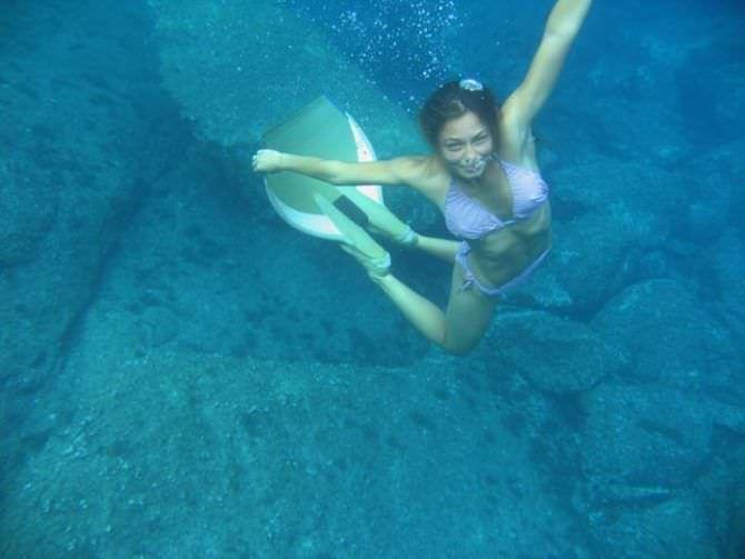 Марина Казанкова фотография в ластах под водой