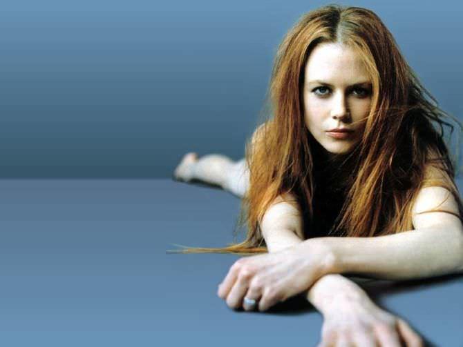 Николь Кидман фотосессия с рыжими волосами
