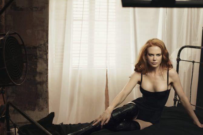 Николь Кидман фото в белье для журнала gq