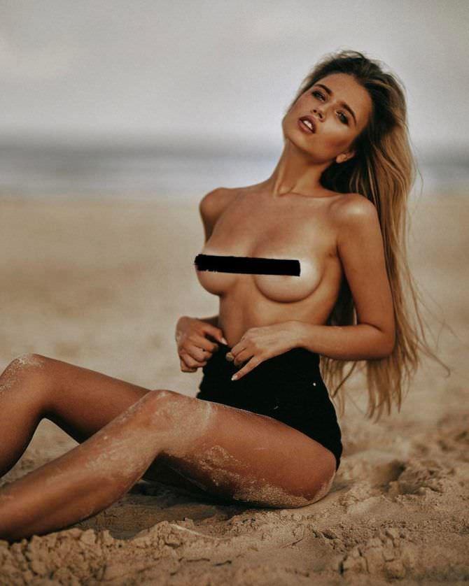 Полина Малиновская откровенная фотосессия на пляже