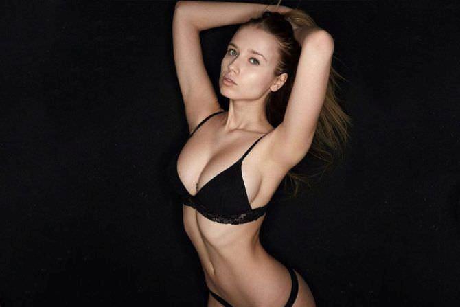 Полина Малиновская фотография в чёрном белье