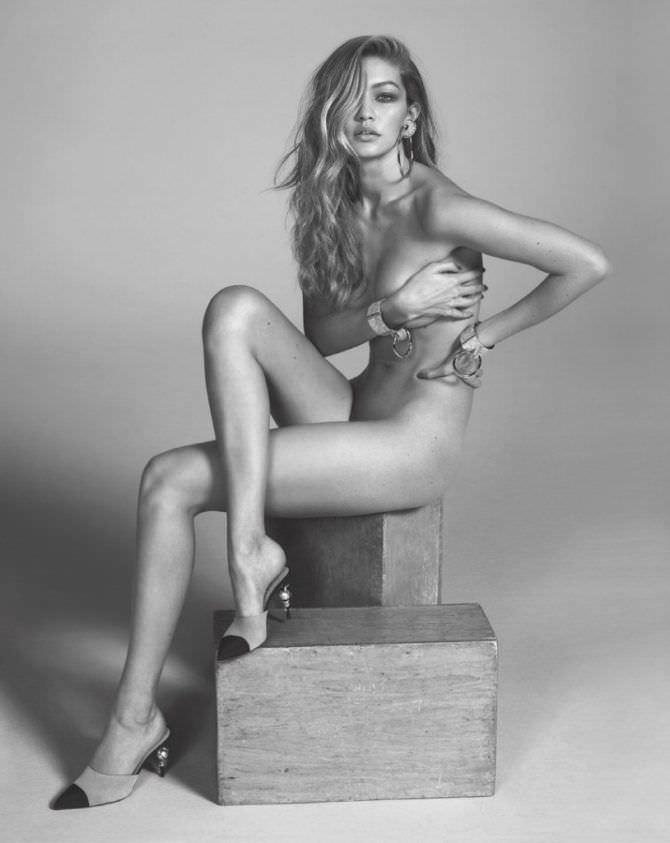 Джиджи Хадид откровенная фотосессия без одежды