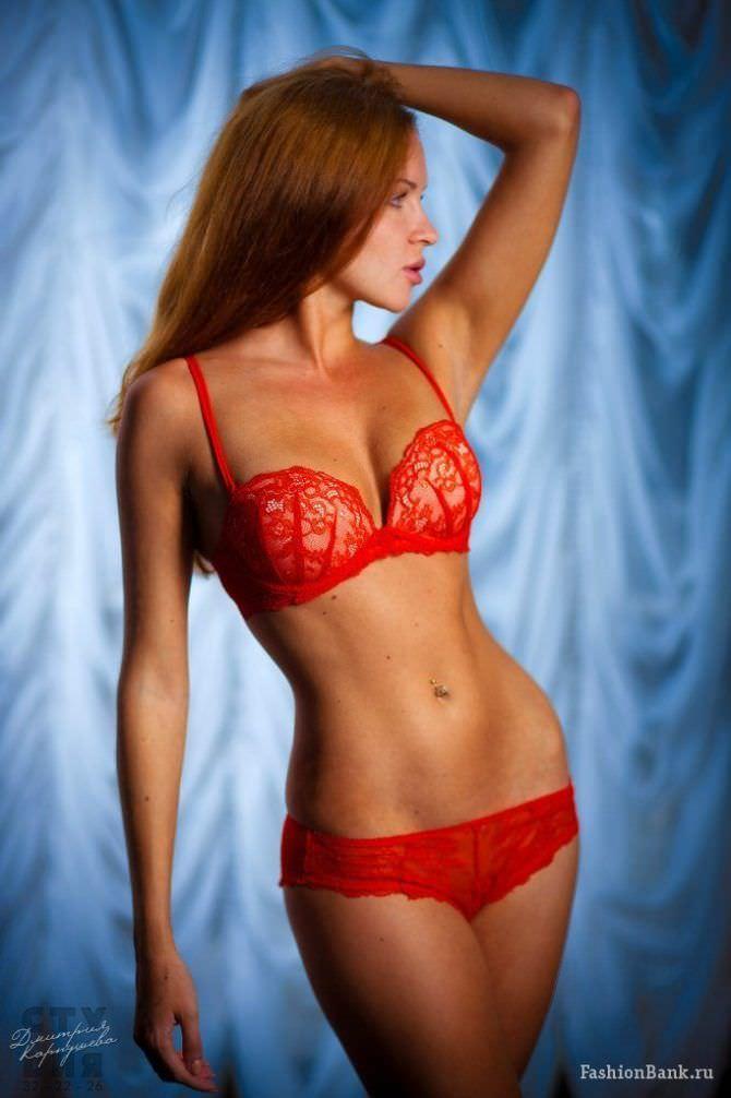 Татьяна Высоцкая фотография в красном белье