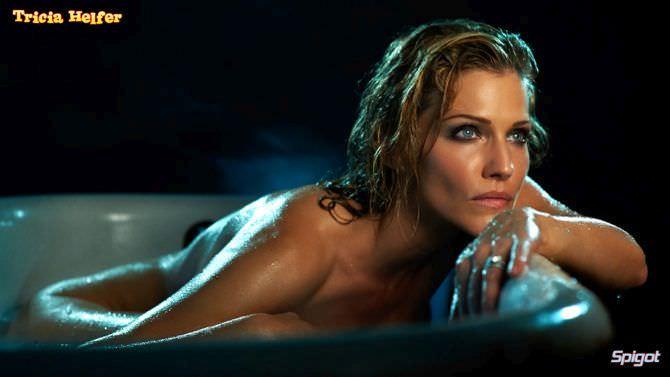 Триша Хелфер кадр в ванне без одежды