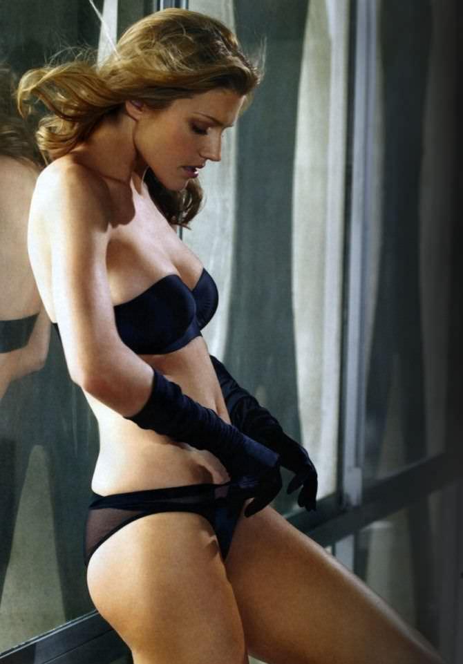 Триша Хелфер кадр в чёрном белье